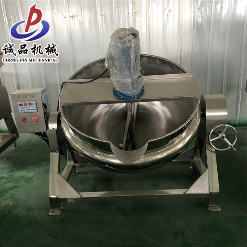 可定制电加热带搅拌式夹层锅 豆瓣酱加工设备 猪肉辣酱韭花酱夹层锅厂家