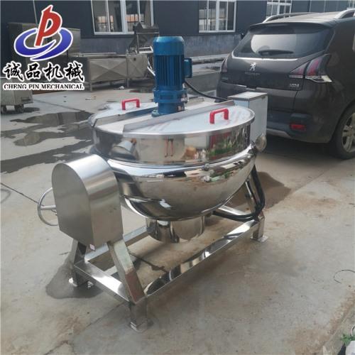 厂家直销 药材熬制电加热可倾夹层锅 100升秋梨膏高温熬制锅
